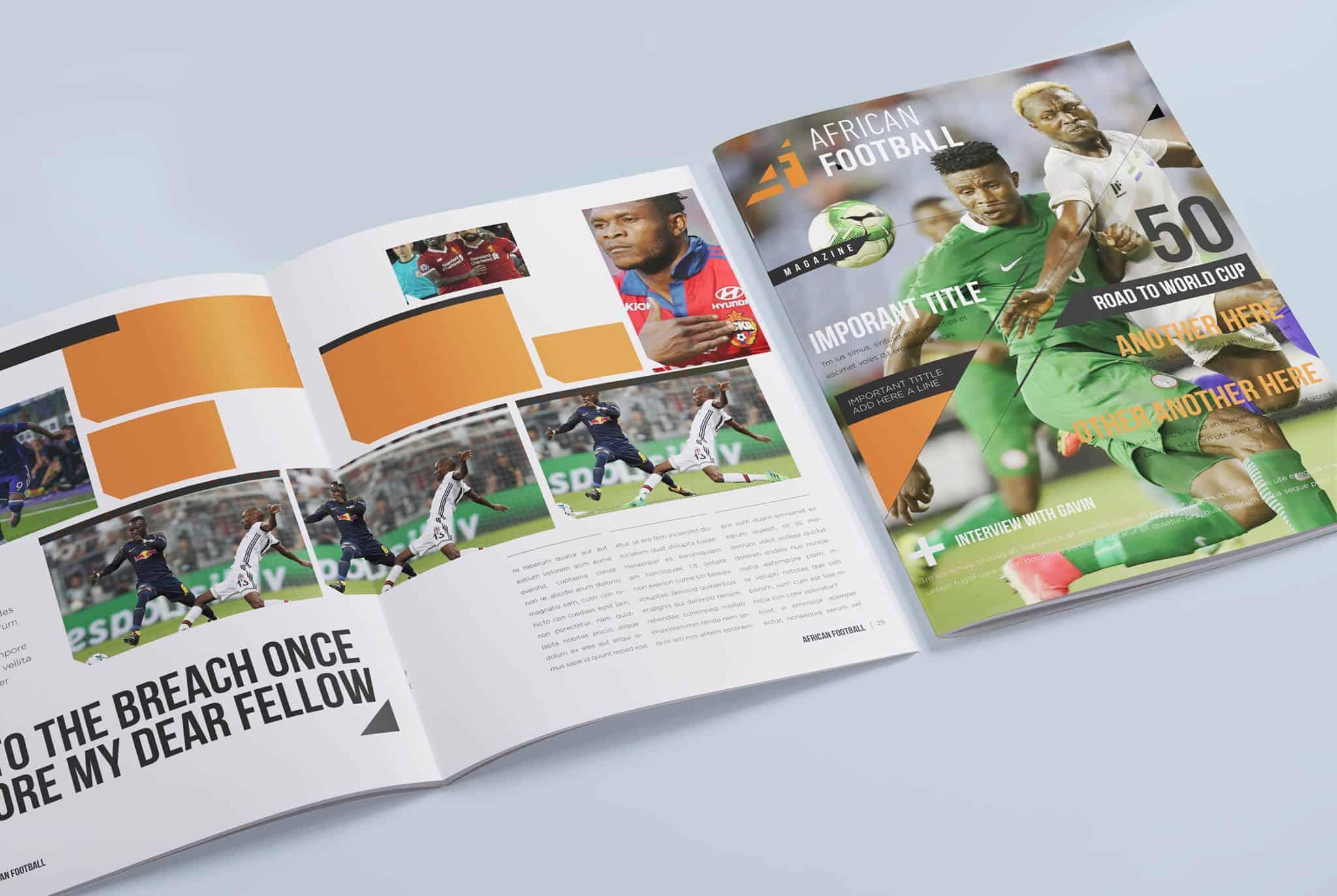 African Football Magazine Design