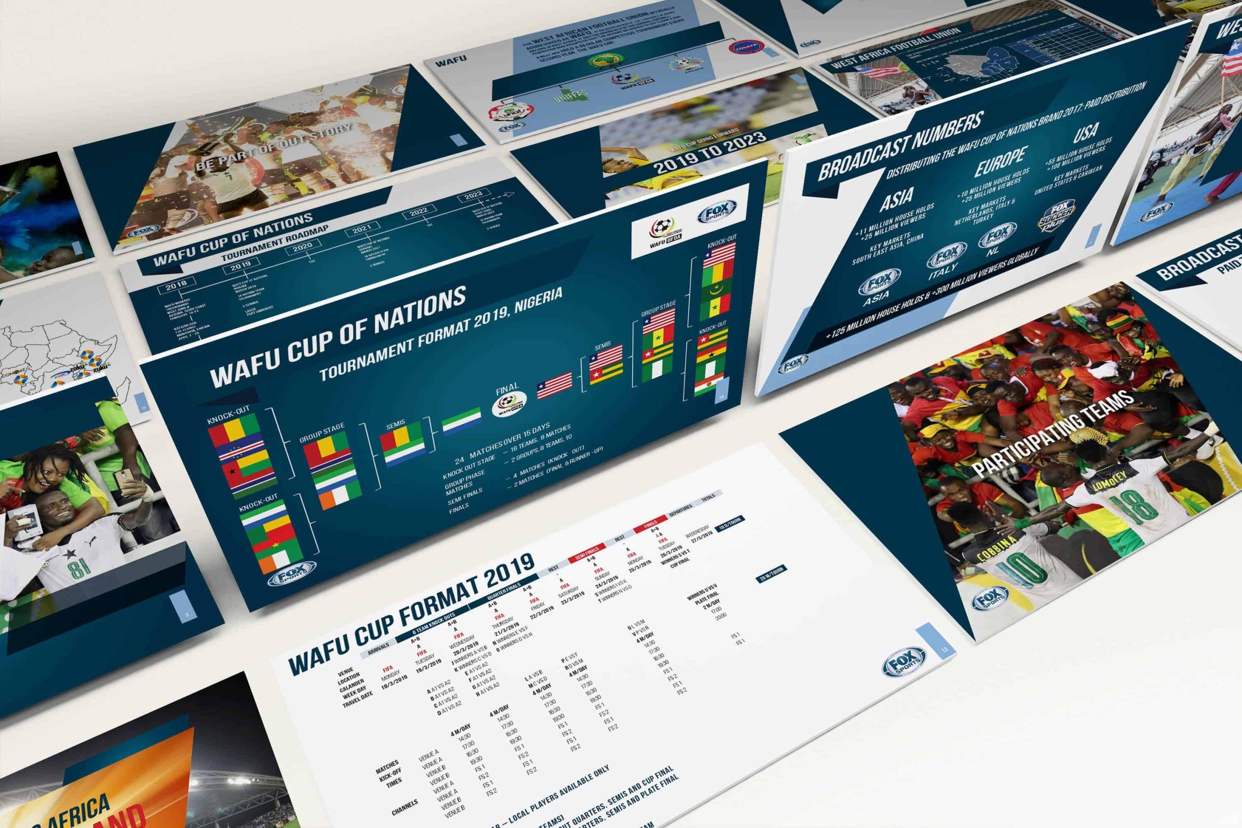 Proposal Presentation Design for Fox Sports WAFU Cup Sponsorship